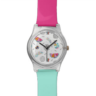 Memphis Style Tropical Summer Pattern Watch