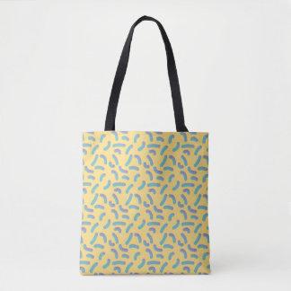 Memphis Style Yellow 3D Confetti Tote Bag