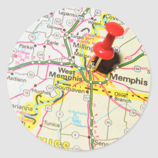 Memphis, Tennessee Classic Round Sticker