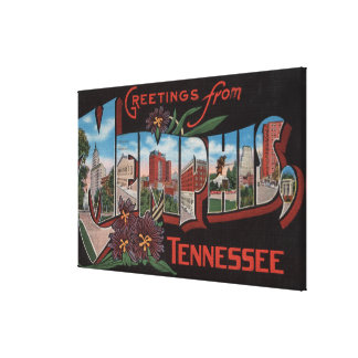 Memphis, Tennessee - Large Letter Scenes 3 Canvas Print