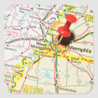 Memphis, Tennessee Square Sticker