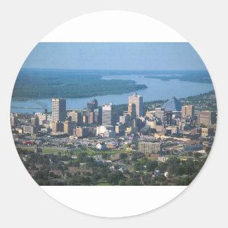 Memphis Tennsesse Skyline Classic Round Sticker
