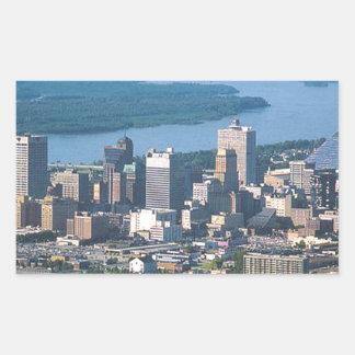Memphis Tennsesse Skyline Rectangular Sticker