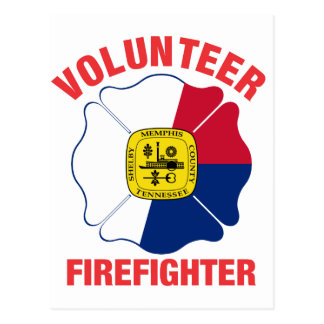 Memphis, TN Flag Volunteer Firefighter Cross Post Cards