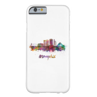 Memphis V2 skyline in watercolor Barely There iPhone 6 Case