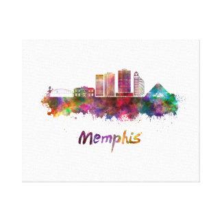 Memphis V2 skyline in watercolor Canvas Print