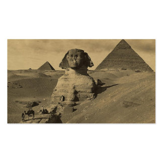 Men and Camels on the Paw of the Sphinx, Pyramids Pack Of Standard Business Cards