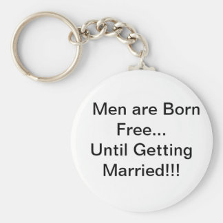 Men and Marriage Basic Round Button Key Ring