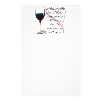 Men are like fine Wine humorous gifts Stationery