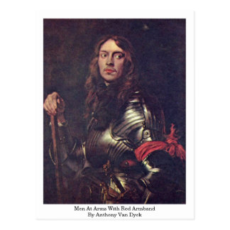 Men At Arms With Red Armband By Anthony Van Dyck Postcard