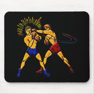 Men Boxing Print Mouse Pad