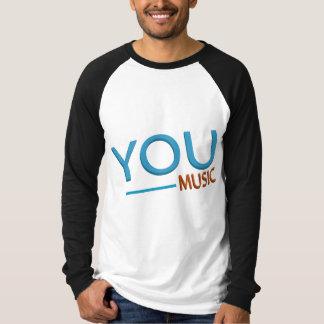 Men Canvas Long Sleeve Raglan T-Shirt - YOU MUSIC