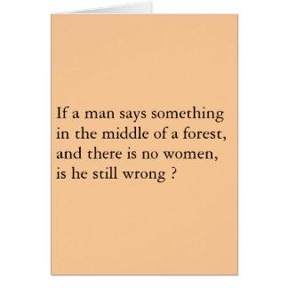 Men Forest Card