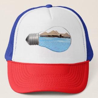 Men Hat Trucker Light Bulb Ocean