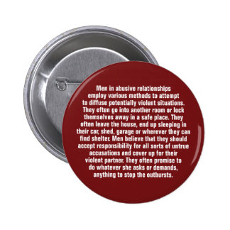 Men In Abusive Relationships Employ Various … 6 Cm Round Badge