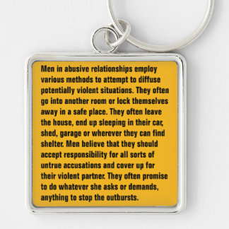 Men In Abusive Relationships Employ Various … Silver-Colored Square Key Ring