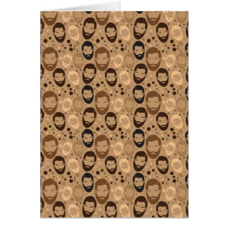 Men in Beards pattern Greeting Card
