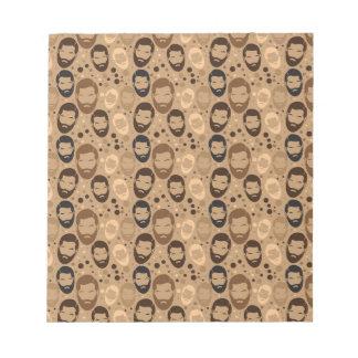 Men in Beards pattern Notepads