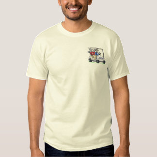 Men In Golf Cart Embroidered T-Shirt