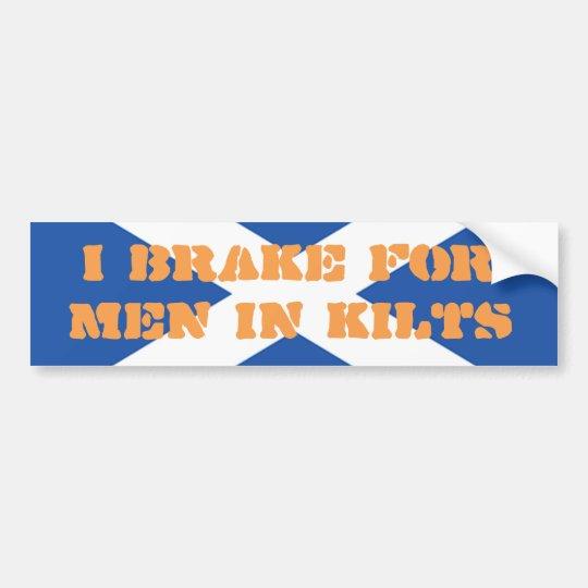 Men in Kilts Scotland Bumper Sticker