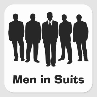 men in suits stickers