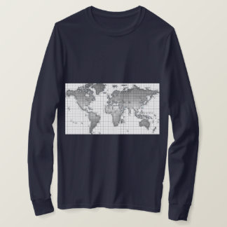 Men Long sleeve T-shirt World Map