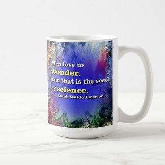 Men love to wonder... Coffee mug