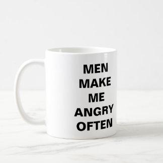 Men Make Me Angry Often Mug