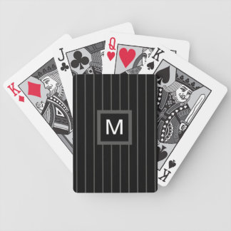 Men Monogrammed Playing Cards -- Men Stripes
