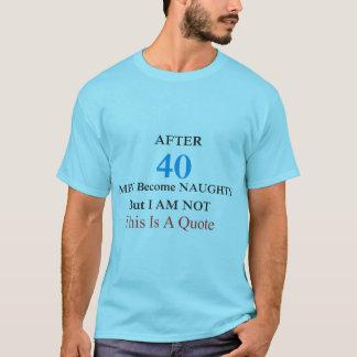 Men Naughty slogan t-shirt