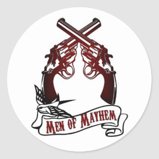 Men of Mayhem Classic Round Sticker