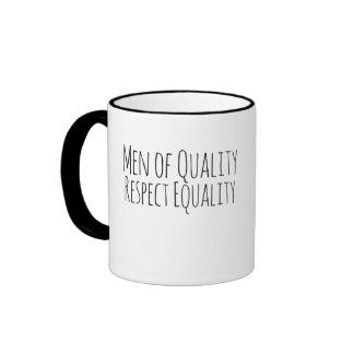 men of quality respect womens equality coffee mug