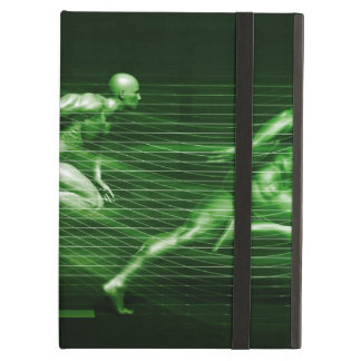 Men Running on Technology Background as a Science iPad Air Case
