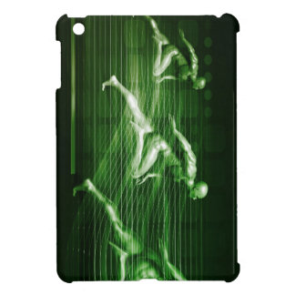 Men Running on Technology Background as a Science iPad Mini Cases