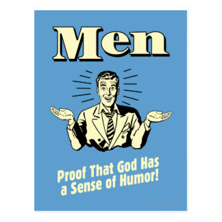 Men: Sense Of Humor Postcard