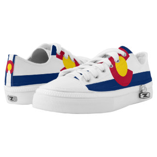 Men Shoes with Flag of Colorado Printed Shoes
