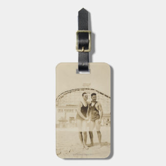 Men Standing on Beach Luggage Tag