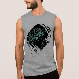 Men T-shirt Tiger Roaring