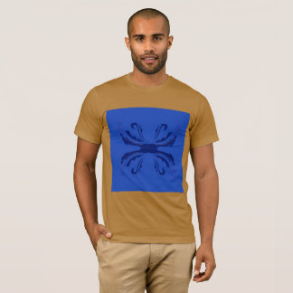 Men t-shirt with Arabic Mandala blue