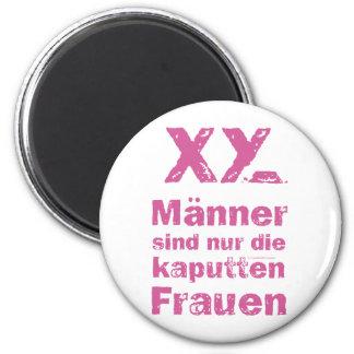 Men, the broken women 6 cm round magnet