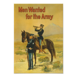 Men Wanted For The Army - WW1 Poster