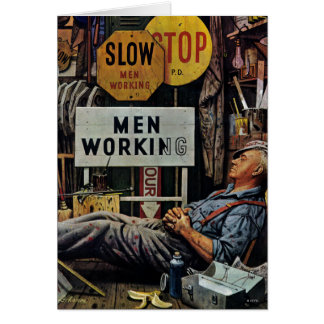 Men Working Card
