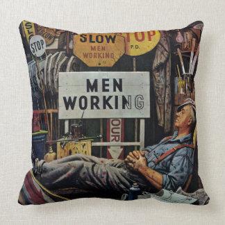 Men Working Cushion