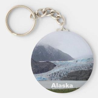 Mendenhall Glacier Basic Round Button Key Ring