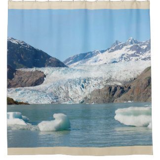 Mendenhall Glacier in Juneau, AK Shower Curtain