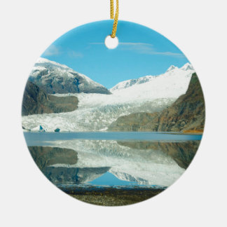 Mendenhall Glacier Round Ceramic Decoration