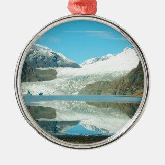 Mendenhall Glacier Silver-Colored Round Decoration