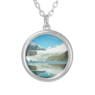 Mendenhall Glacier Silver Plated Necklace