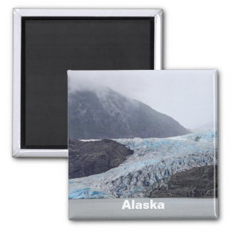 Mendenhall Glacier Square Magnet