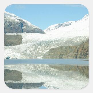 Mendenhall Glacier Square Sticker
